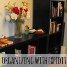 Organizing with Expedit Bookshelves