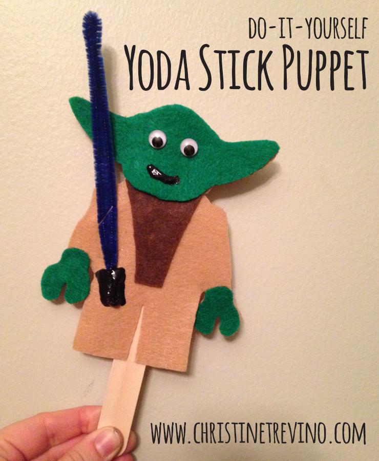 Yoda Stick Puppet
