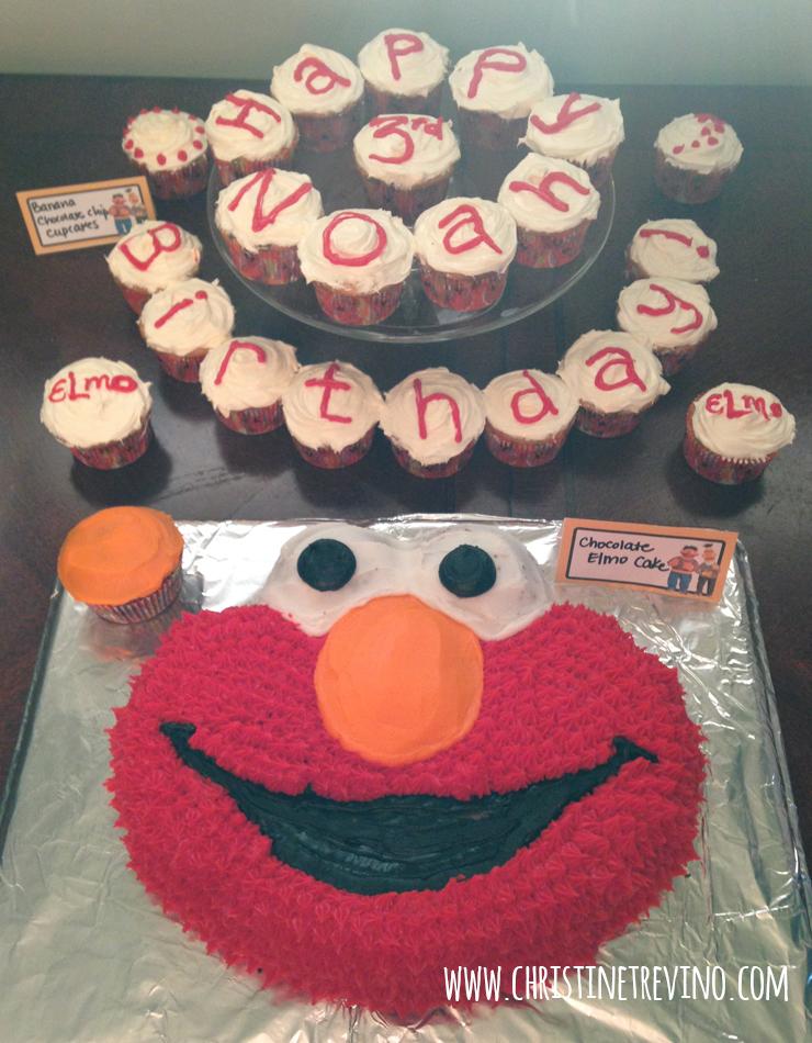 Elmo Cake & Cupcakes