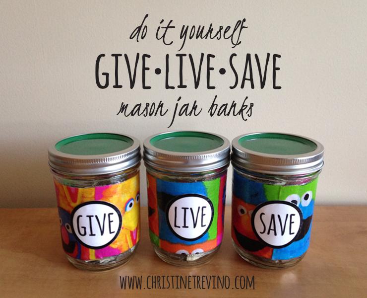 Give-Live-Save   Sesame Street Mason Jar Banks