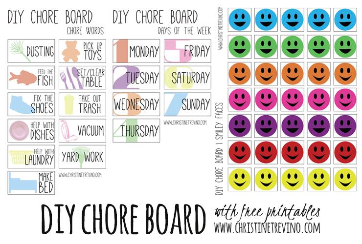 DIY Chore Board {FREE Printables}