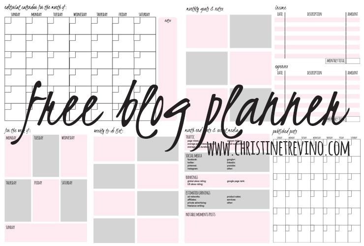 Free Blog Planner   The Listmaker's Blog Planner