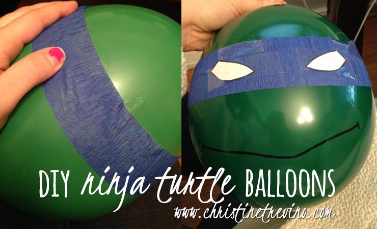 DIY Ninja Turtle Balloons