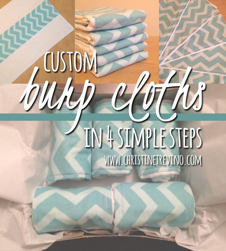 Custom Burp Cloths in 4 Simple Steps