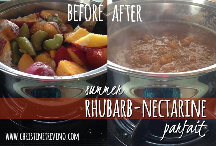 Rhubarb Nectarine Parfait 2